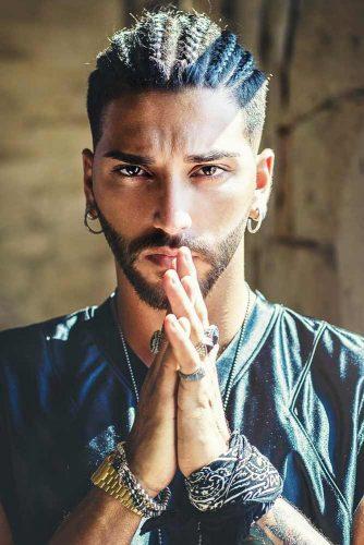 Braided Style With Undercut Fade #menshaircuts #braidedmen #undercutfade