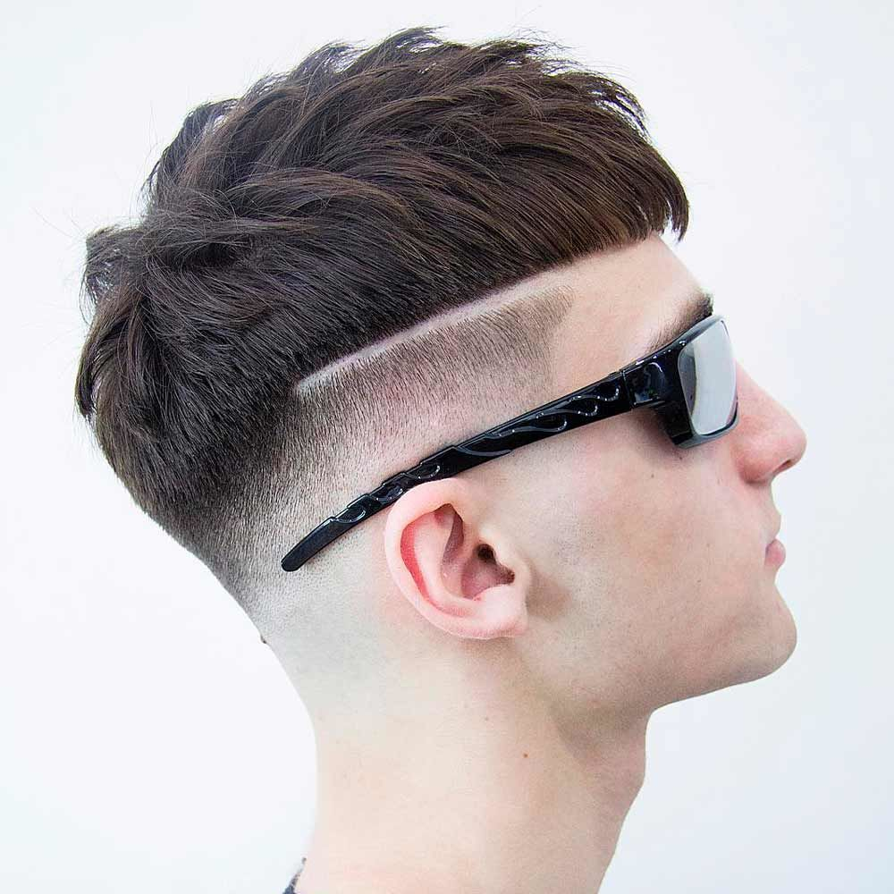 Straight And Textured Undercut Hairstyle