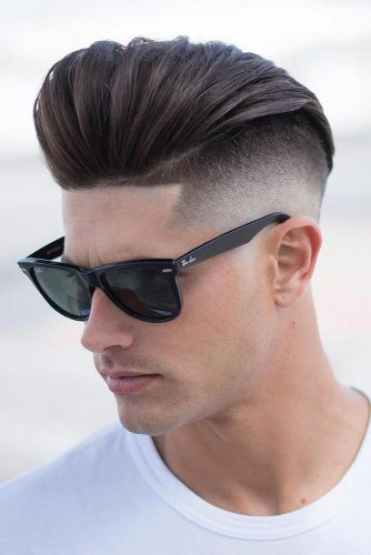 Undercut With Long Slicked Back Top #menshaircuts #undercut #slickedback