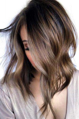 Choppy Asymmetrical Haircut #asymmetricalhaircut #haicuts #bobhaircut #mediumhair