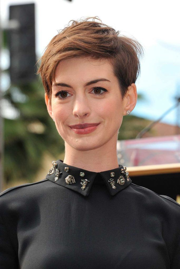 Short Graduated Chop Pixie For Anne Hathaway