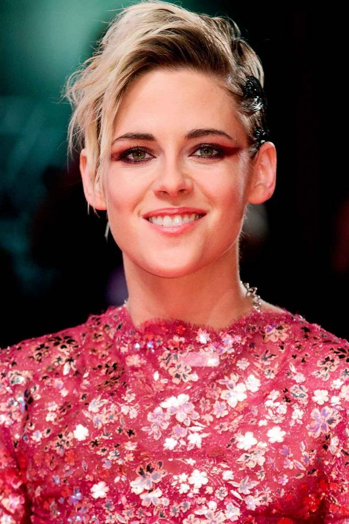 Asymmetrical Long Pixie With Shaved Side By Kristen Stewart