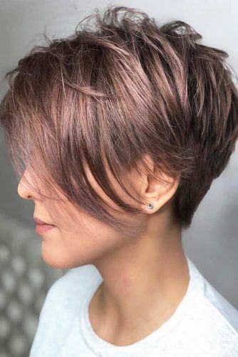 Layered Straight Asymmetrical Pixie #asymmetricalpixie #shorthair #pixiehaircut #haircuts