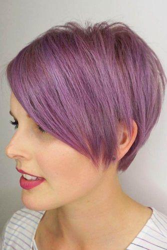Lilac Straight Asymmetrical Pixie #asymmetricalpixie #shorthair #pixiehaircut #haircuts