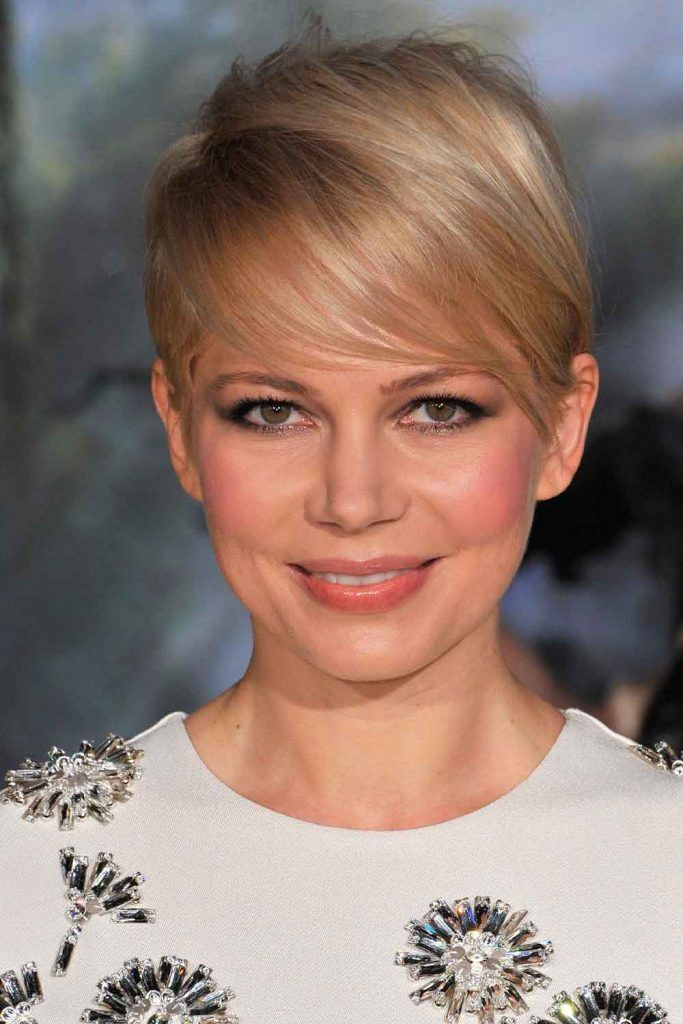 Asymmetrical Pixie Cut For Thin Hair By Michelle Williams