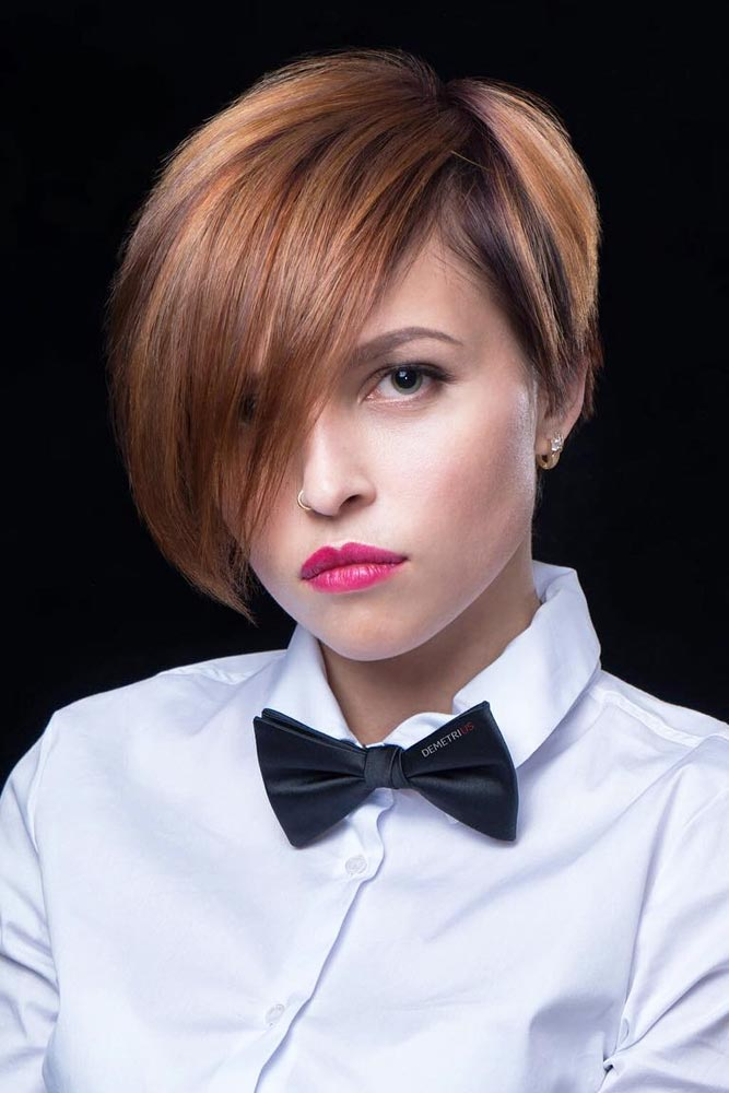 Asymmetrical Pixie Cut For Thick Hair #asymmetricalpixie #shorthair #pixiehaircut #haircuts #straighthair