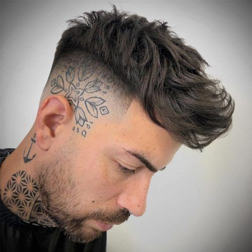 Skin Fade And Head Tattoo #fadehaircut #baldfade #skinfade #haircuts #menhaircuts