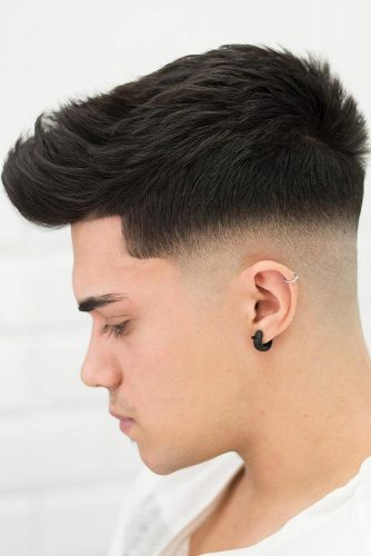 Taper Fade Cut With Quiff #baldfade #fadehaircut #quiff