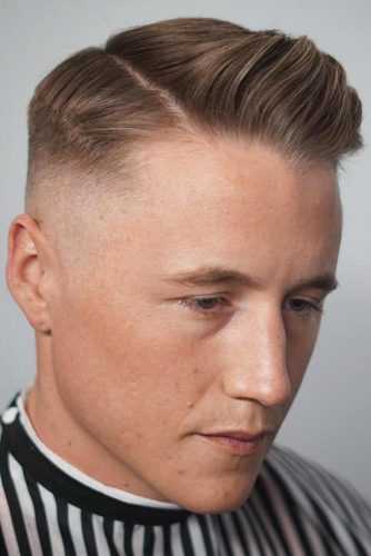 Bald Fade With Side Parted Hairstyle #menshaircuts #baldfade #sidepart