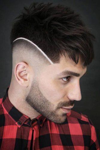 Spiky Top And Razor Line #fadehaircut #baldfade #skinfade #haircuts #menhaircuts
