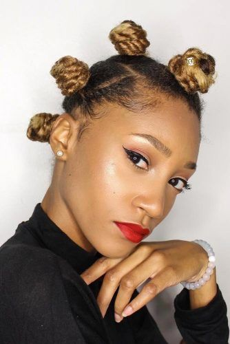 Accentuating Bantu Knots With Ombre Ends #bantuknots #hairtype #naturalhair #hairstyles
