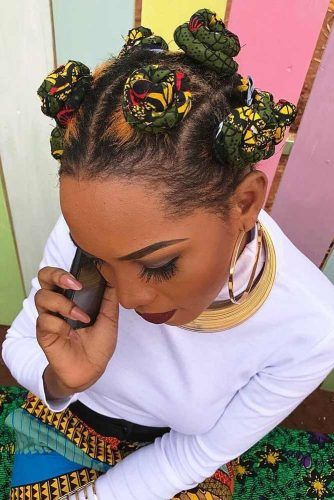KY Braids Into Bantu Knots #bantuknots #hairtype #naturalhair #hairstyles #kybraids