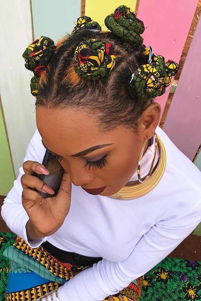 KY Braids Into Bantu Knots #bantuknots #hairtype #naturalhair #hairstyles #kybraids