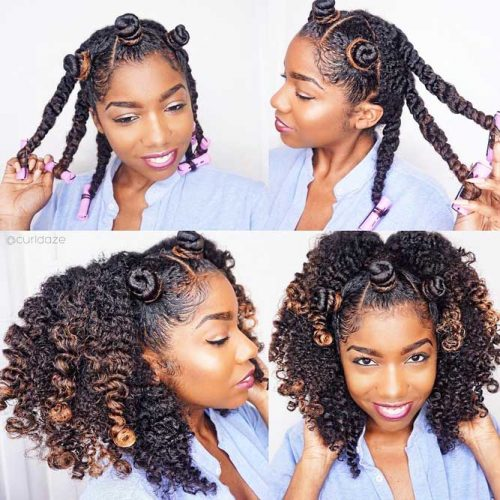 How To Create A Wonderful Hairstyle With Bantu Knots #bantuknots #hairtype #naturalhair #hairstyles