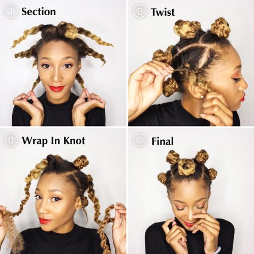 Easy Yet Cool Bantu Knots Tutorial #bantuknots #hairtype #naturalhair #hairstyles #tutorial