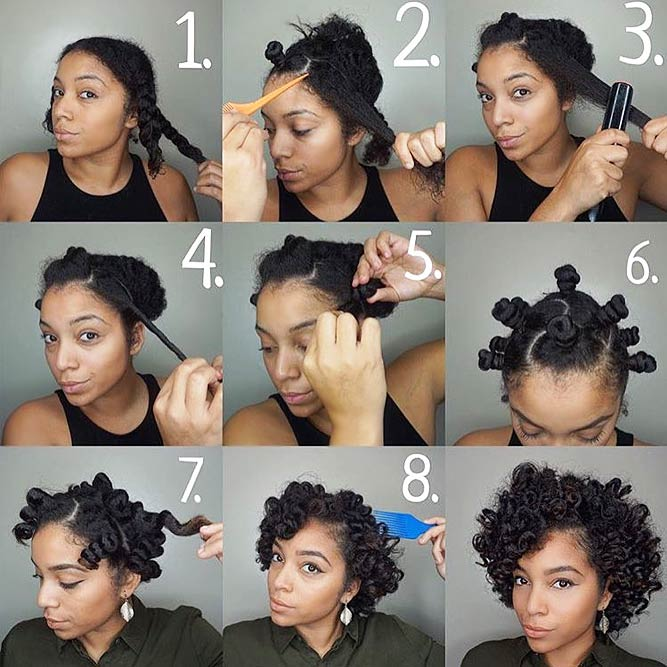How To Curl Your Hair With The Help Of Bantu Knots #bantuknots #hairtype #naturalhair #hairstyles #tutorial
