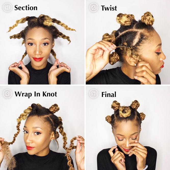 Easy Yet Cool Bantu Knots Tutorial #bantuknots #hairtype #naturalhair #hairstyles #tutorial