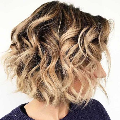 Messy Beachy Waves #beachwaves #shorthair #hairstyles