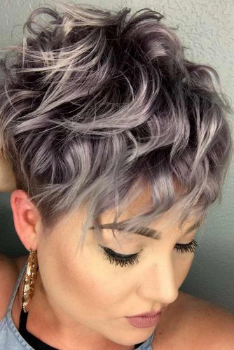 Short Messy Pixie #beachwaves #shorthair #hairstyles #pixiehaircut #lilachair