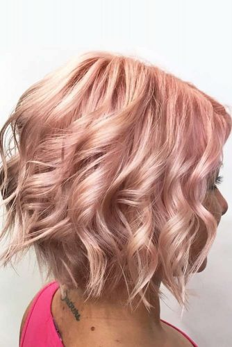 Rose Beach Waves For Short Hair #beachwaves #shorthair #hairstyles #bobhaircut #rosehair