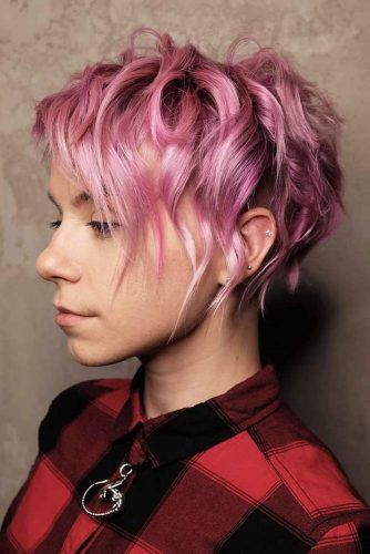 Rose Wavy Pixie #beachwaves #shorthair #hairstyles