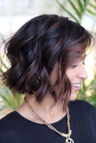Bob Cut With Framing Balayage #beachwaves #shorthair #hairstyles #bobhaircut