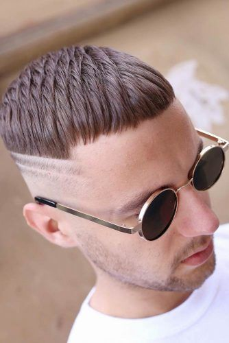 Textured Crop With Double Shaved Stripes #caesarhaircut #menshaircuts #shorthaircuts