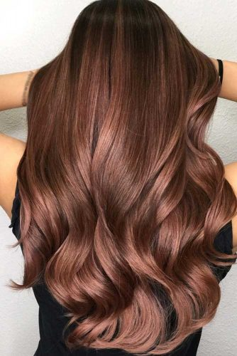Gorgeous Warm Chestnut Shade With Darker Roots #brunette #brownhair #wavyhair