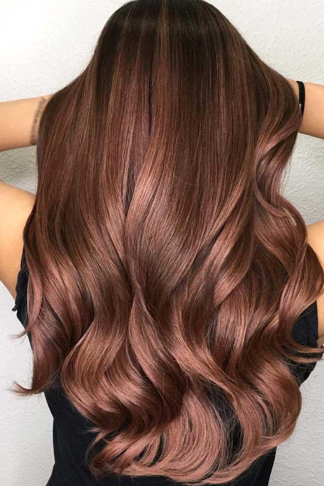 Gorgeous Warm Chestnut Shade With Darker Roots #brunette #brownhair #wavyhair