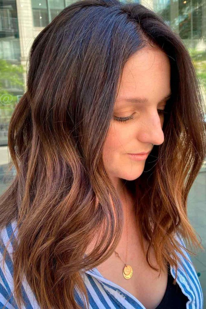 Light Chestnut Brown With Black Roots