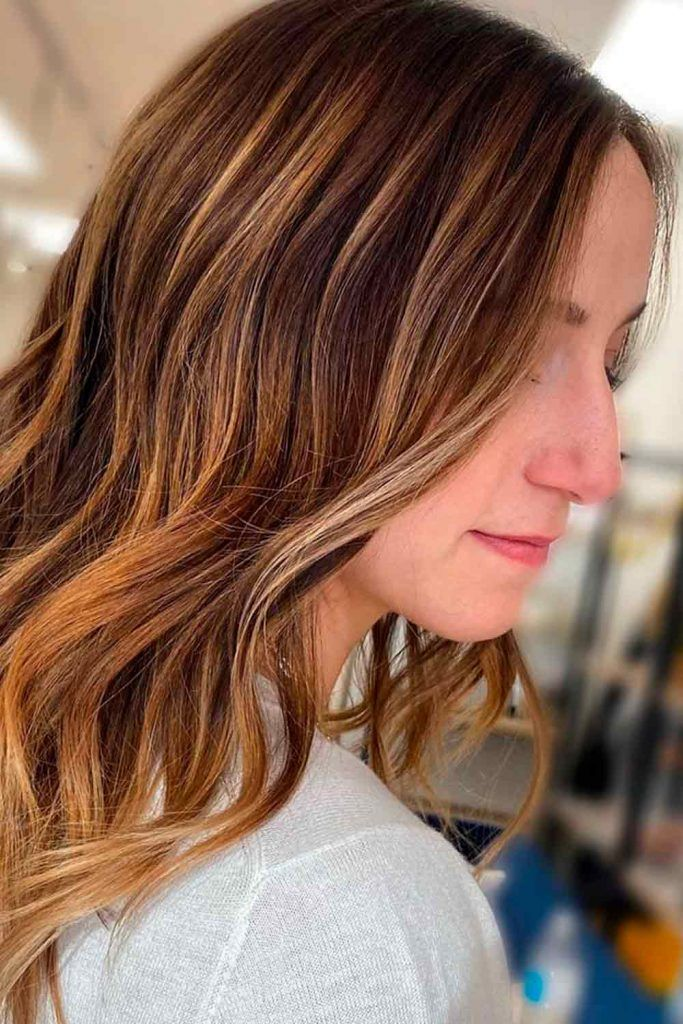Chestnut With Blonde Highlights