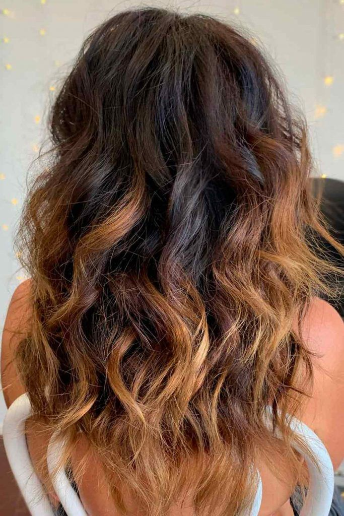 Brown Hair Color + Blonde Ombre