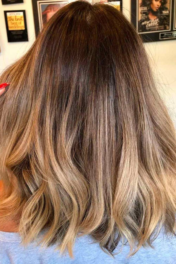 Chestnut Brown With Carmel Blonde Highlights