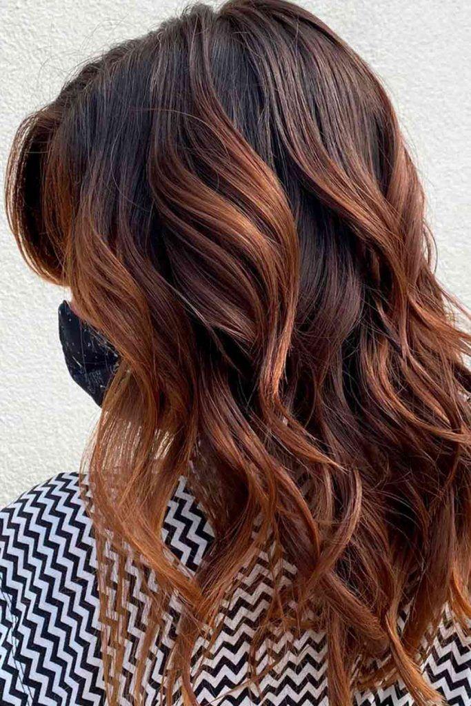 Brunette With Light Chestnut Brown Locks