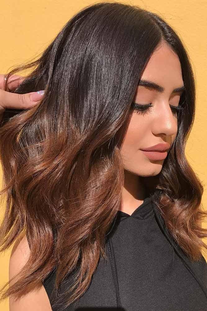 Chestnut Brown Ombre For Brunette Hair #brownhair #brunette #ombre