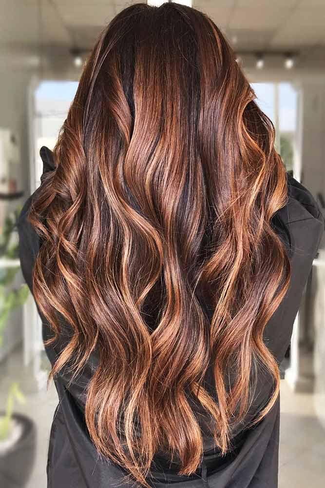 Brunette With Light Chestnut Brown Locks #chestnuthair #brownhair #brunette #highlights