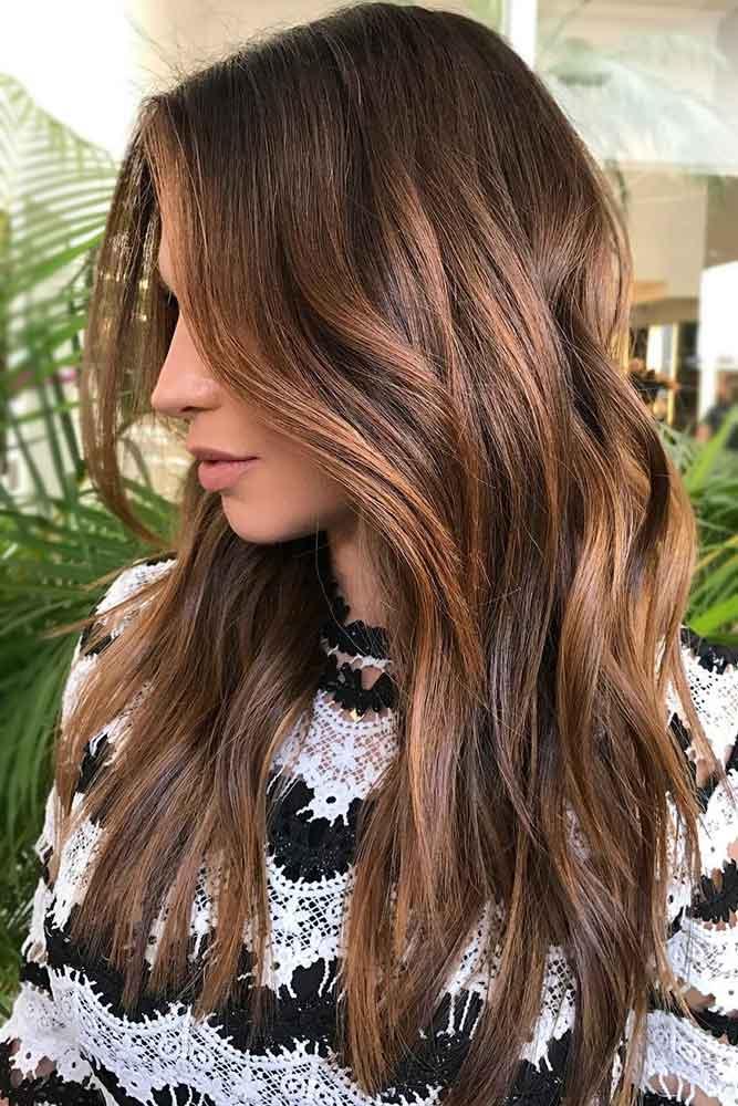Chocolate Brown Hair Color With Chestnut Balayage #brownhair #balayage