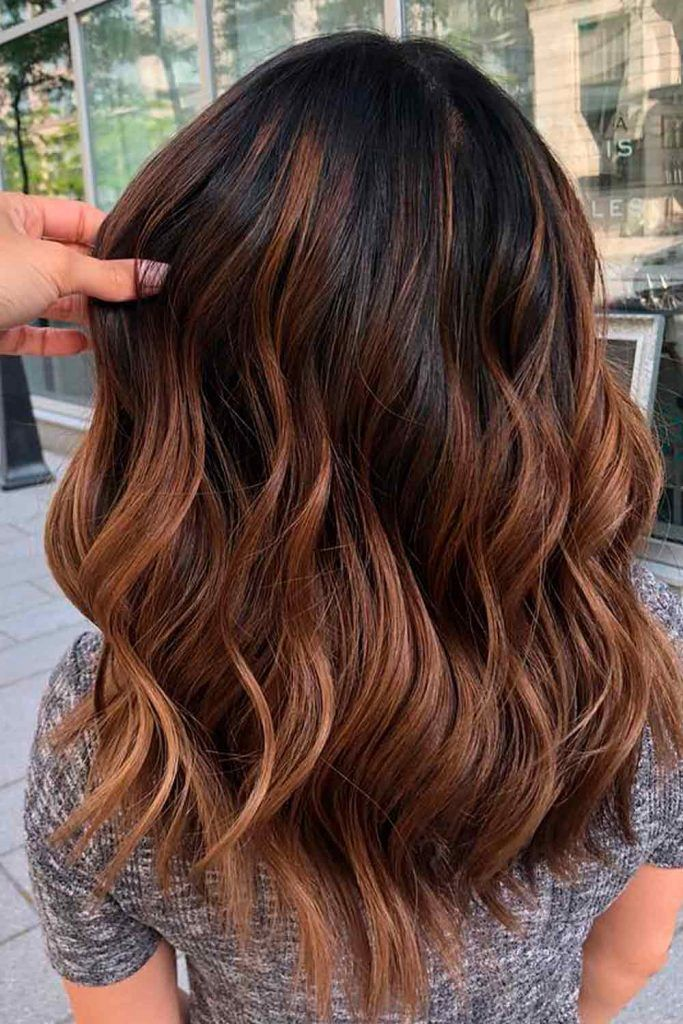 Copper Light Chestnut Brown Hair