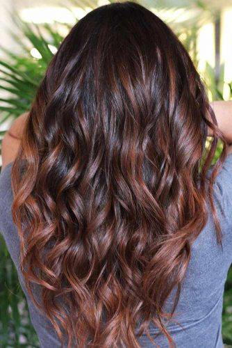 Chestnut Brown Tint For Dark Hair #brunette #brownhair #wavyhair