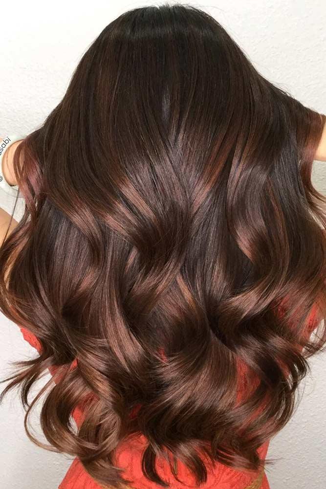 Dark Chestnut Brown Hair #brownhair #wavyhair #brunette