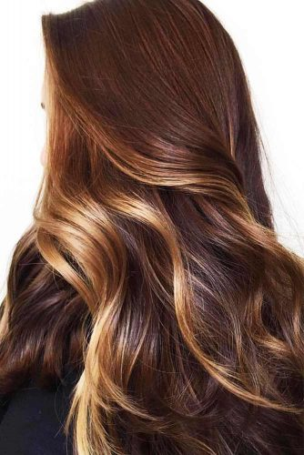 Golden Blonde Highlights For Chestnut Brown #brownhair #highlights