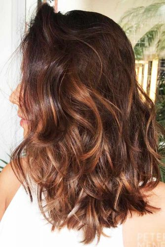 Chestnut Brown Shade With Honey Hues #brownhair #highlights