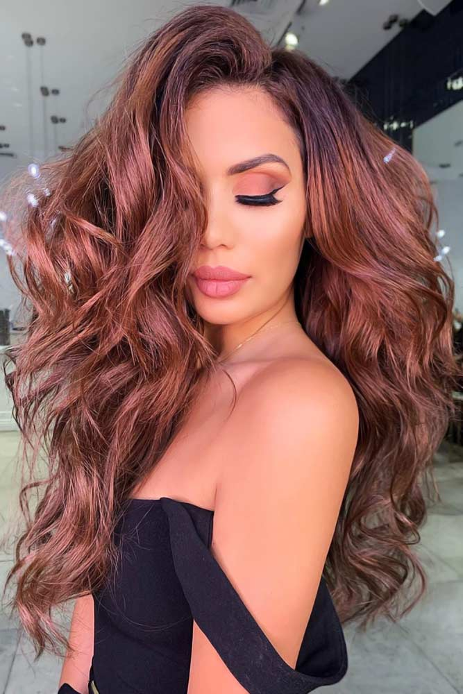 Light Chestnut Brown With Black Roots #chestnuthair