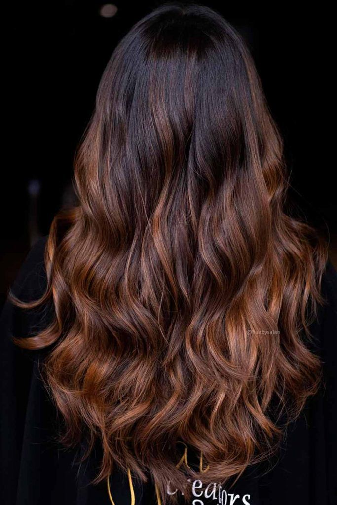 Chestnut Brown Shade With Honey Hues