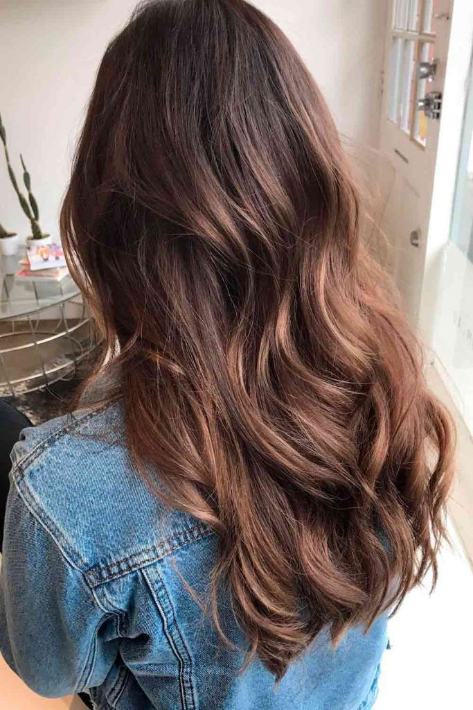 Ashy Shade Of Brown With Highlights