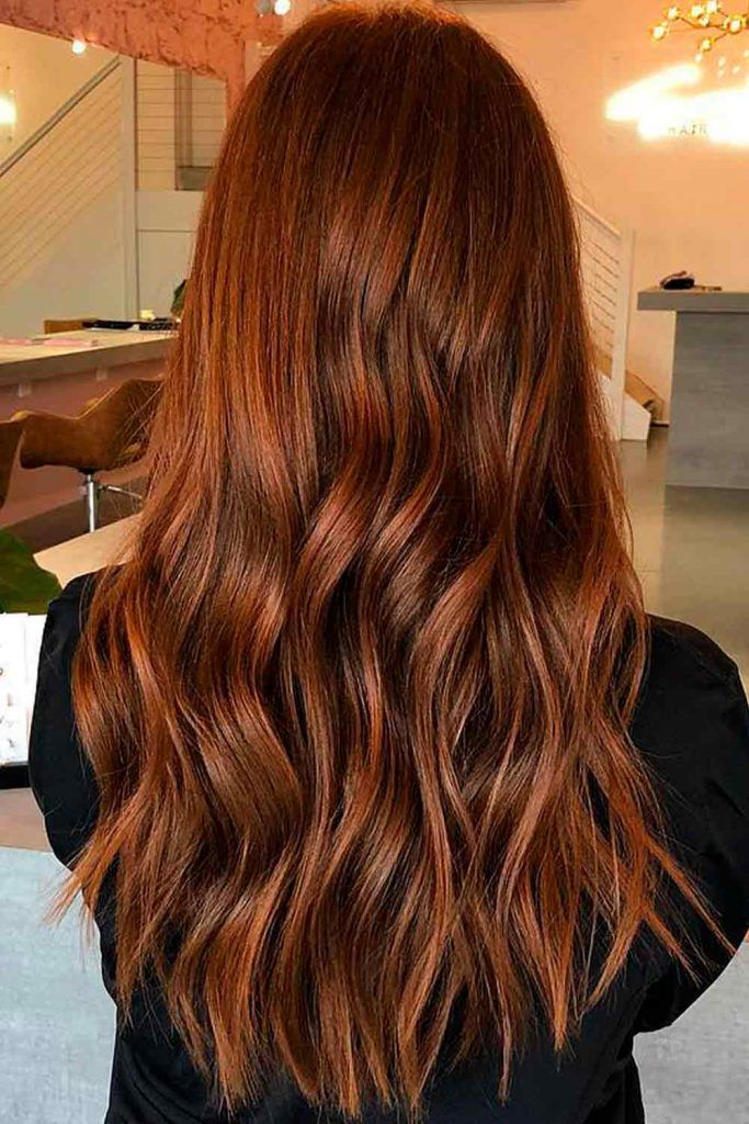 Light Chestnut Brown Hair With Hints Of Red