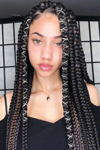 Crochet Braids With Hair Ties #crochetbraids #braids #longhair