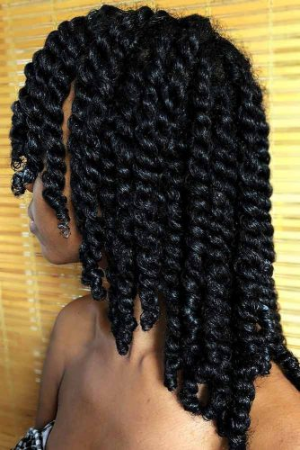 Medium Twists Crochet Braids #crochetbraids #mediumhair