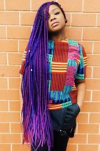 Super Long Violet Crochet Braids #braids #crochetbraids #longhair