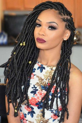 Crochet Hair With Accessories #crochetbraids #braids #longhair